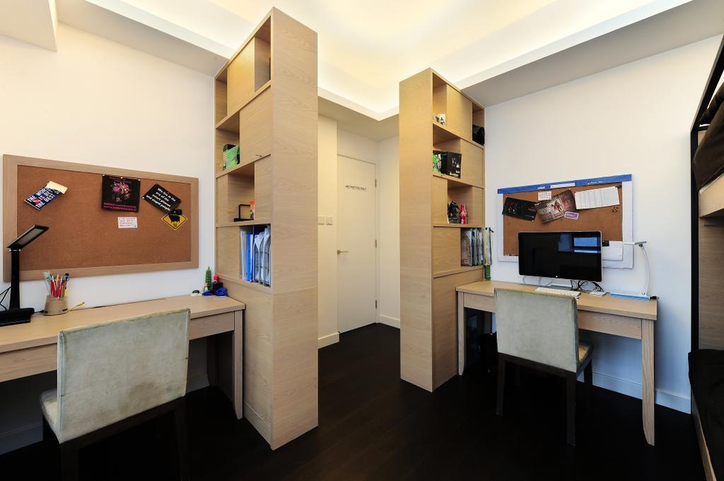摩登, 私家樓, 睡房, 嘉雲台, 室內設計師, Krispace Design Consultancy, Plywood, Wood, Appliance, Electrical Device, Oven, Flooring, Sink, Desk, Furniture, Table