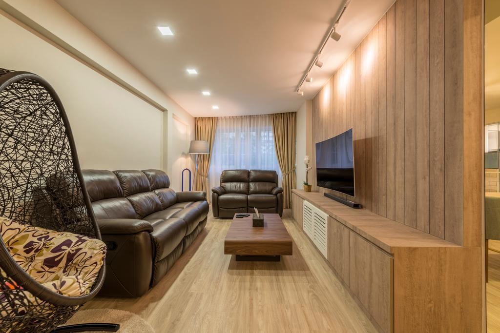 Minimalistic, HDB, Living Room, Choa Chu Kang Drive (Block 689A), Interior Designer, Voila, Indoors, Interior Design