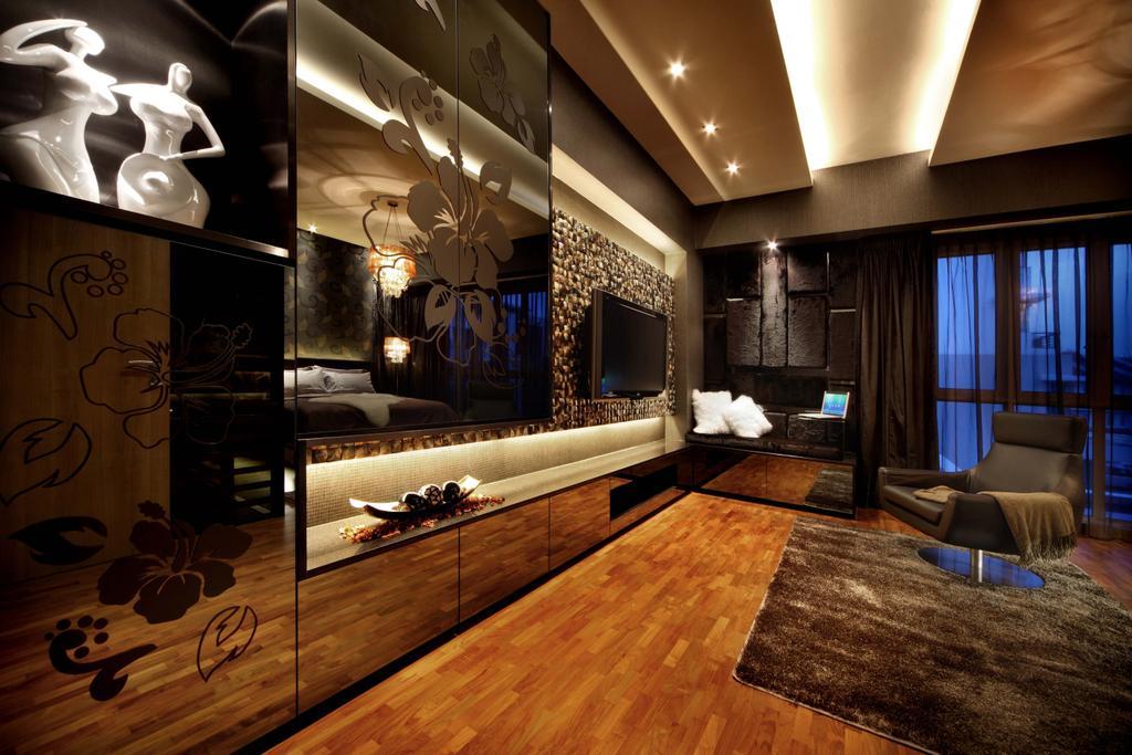 Modern, Landed, Bedroom, Mimosa Drive, Interior Designer, I-Bridge Design, Lighting, Indoors, Room, Couch, Furniture, Interior Design