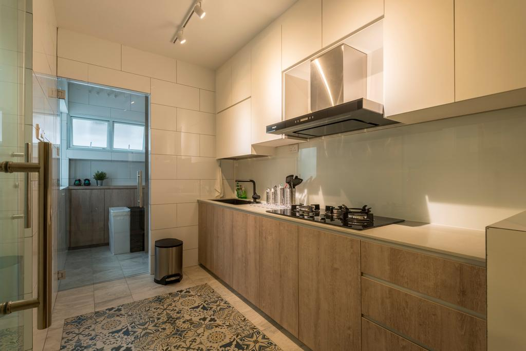 Minimalistic, HDB, Kitchen, Choa Chu Kang Drive (Block 689A), Interior Designer, Voila, Furniture, Sideboard, Indoors, Interior Design