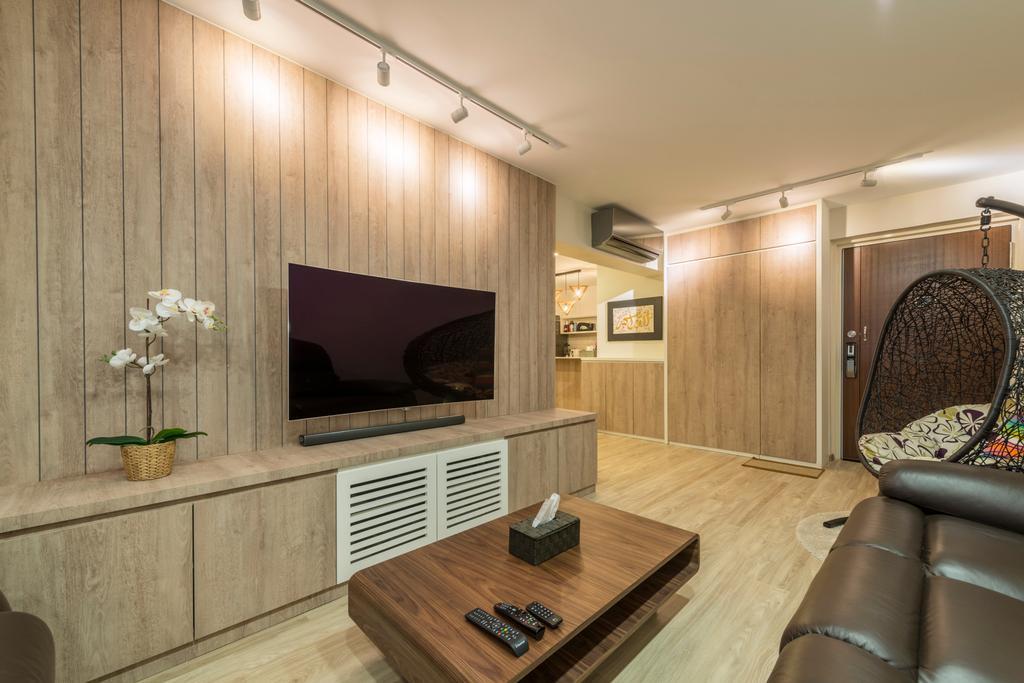 Minimalistic, HDB, Living Room, Choa Chu Kang Drive (Block 689A), Interior Designer, Voila, Chair, Furniture, Flooring, Indoors, Interior Design