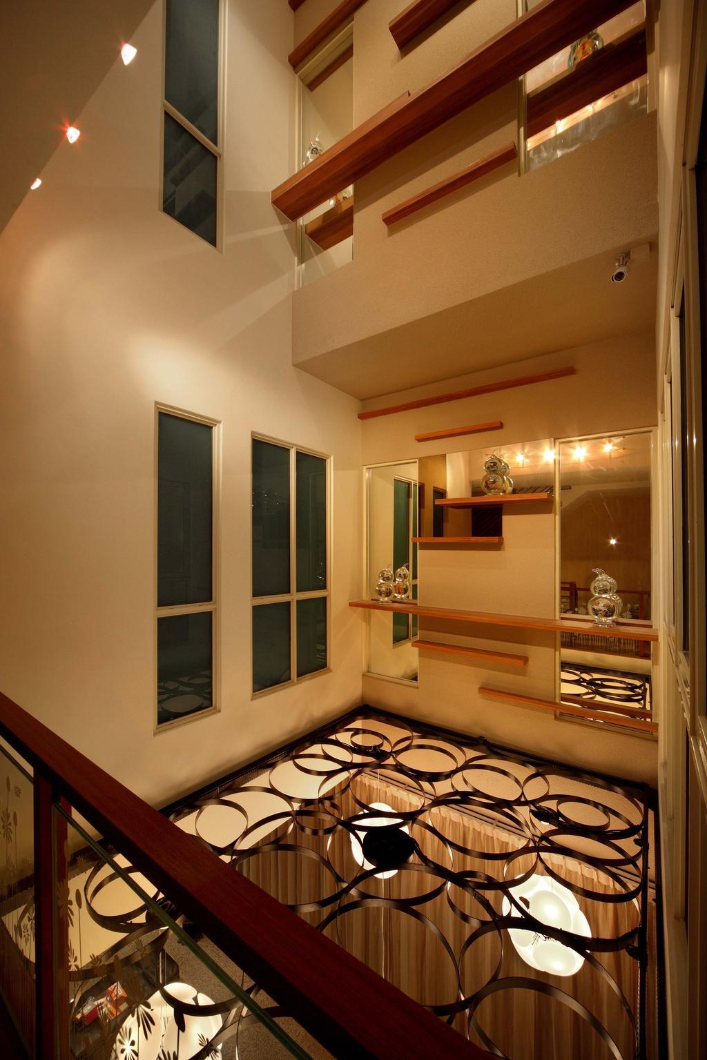 Modern, Landed, Living Room, Mimosa Drive, Interior Designer, I-Bridge Design, Hardwood, Stained Wood, Wood, Indoors, Interior Design, HDB, Building, Housing