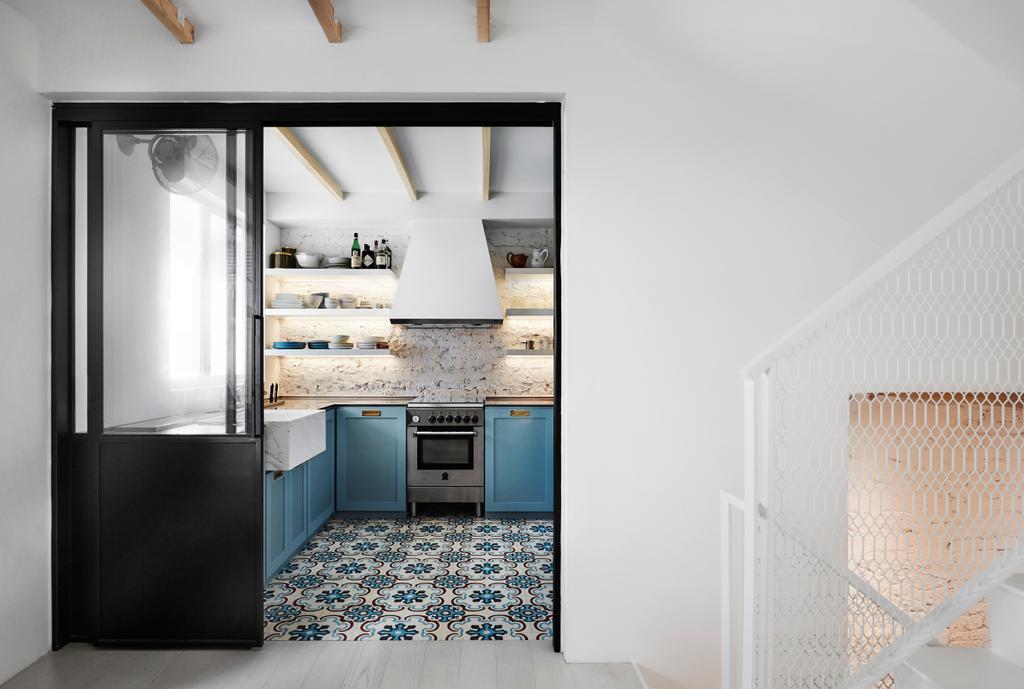 Industrial, Landed, Kitchen, Watten Estate (Townhouse), Interior Designer, IN-EXPAT, Minimalistic, Indoors, Interior Design