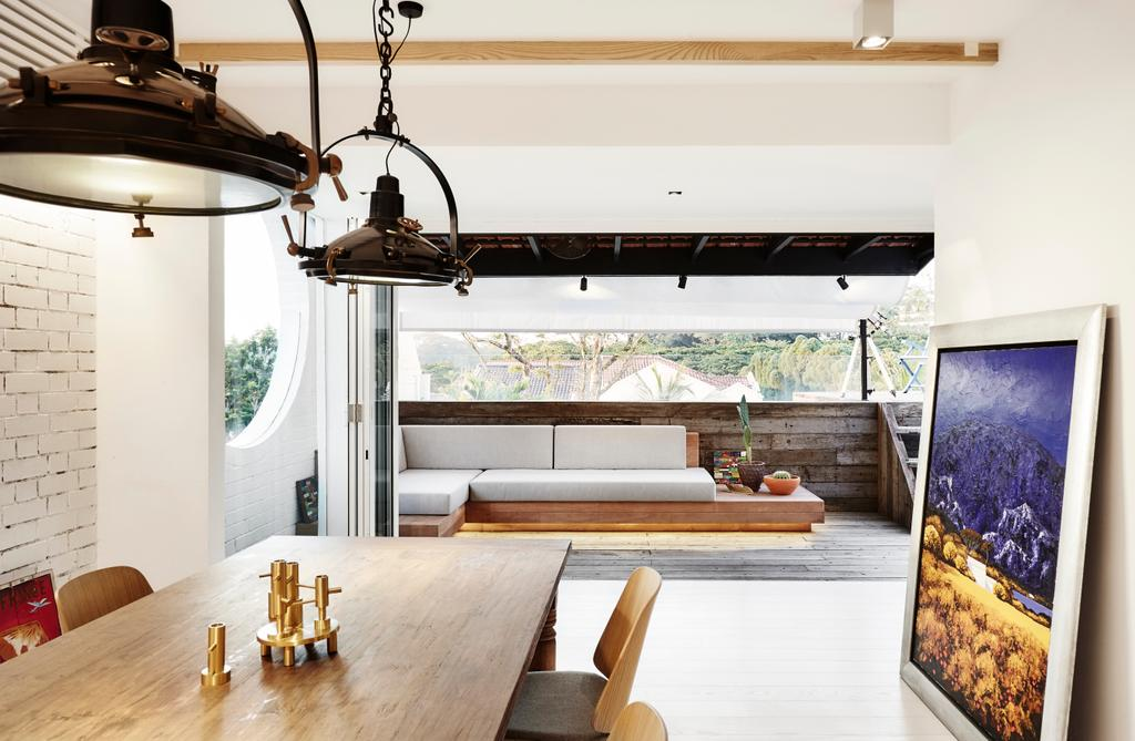 Industrial, Landed, Balcony, White Brick House (Townhouse), Architect, UPSTAIRS_, Minimalistic, Indoors, Interior Design