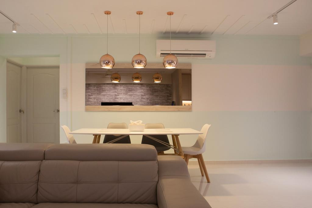 Scandinavian, HDB, Dining Room, Jurong West Street 65, Interior Designer, Starry Homestead, Chair, Furniture, Plywood, Wood, Indoors, Interior Design