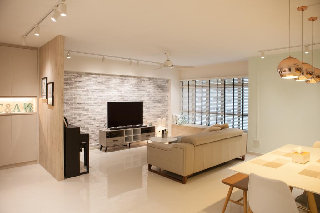 Scandinavian, HDB, Living Room, Jurong West Street 65, Interior Designer, Starry Homestead, Dining Table, Furniture, Table, Indoors, Interior Design