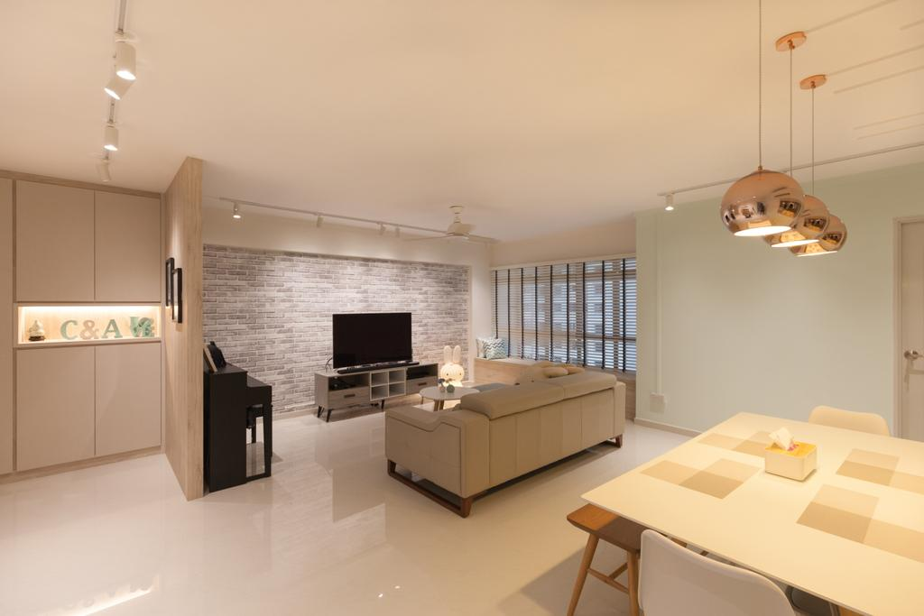 Scandinavian, HDB, Living Room, Jurong West Street 65, Interior Designer, Starry Homestead, Indoors, Interior Design