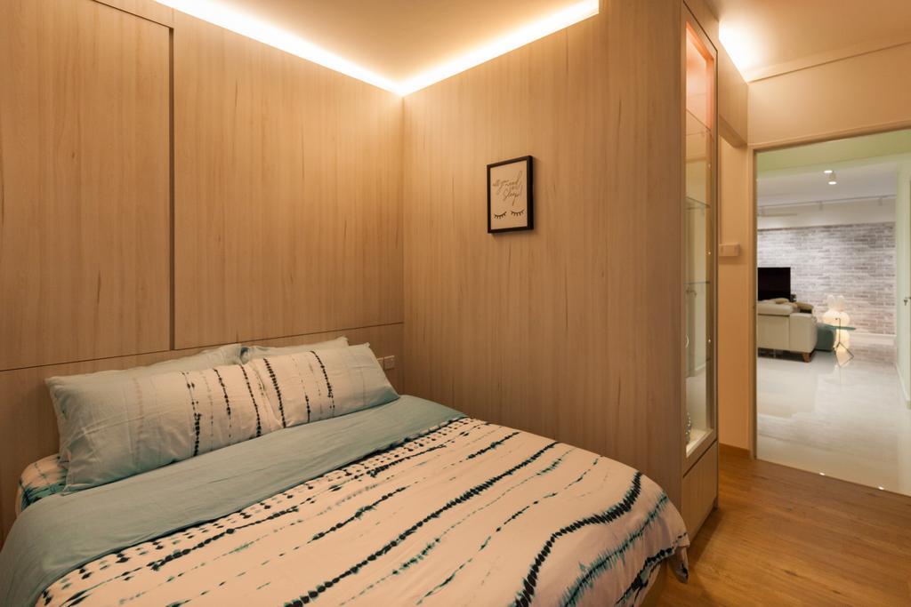 Scandinavian, HDB, Bedroom, Jurong West Street 65, Interior Designer, Starry Homestead, Bed, Furniture