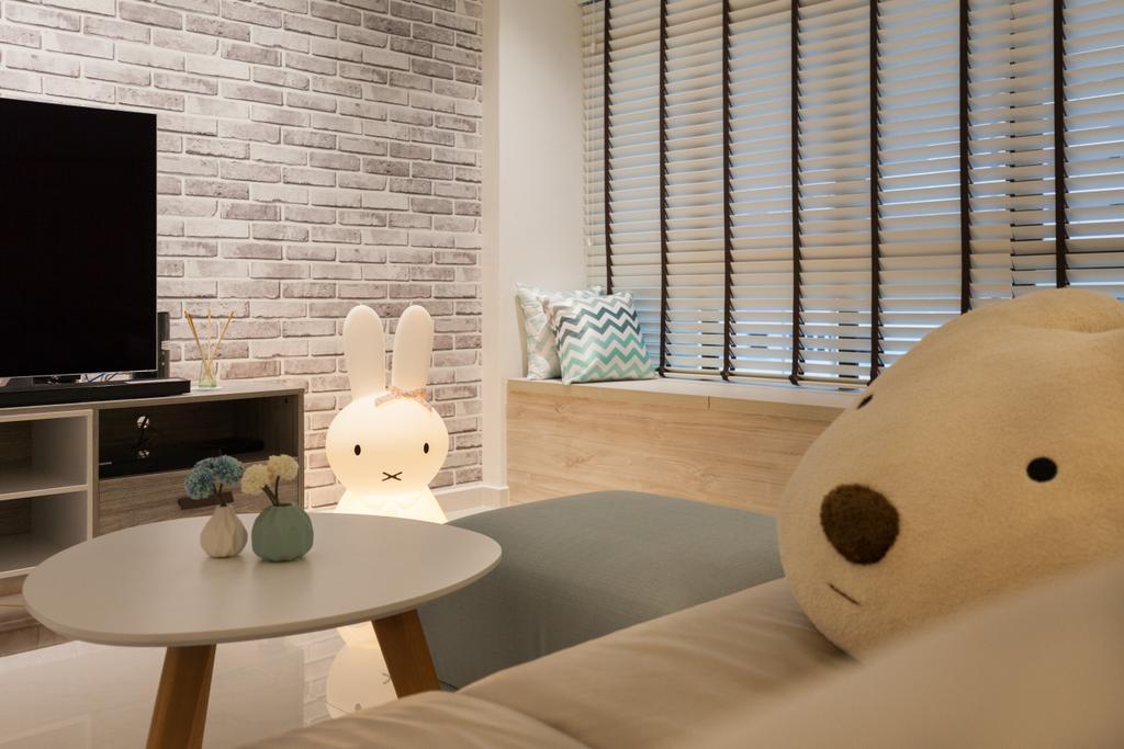Scandinavian, HDB, Living Room, Jurong West Street 65, Interior Designer, Starry Homestead, Indoors, Interior Design, Sink, Dining Table, Furniture, Table
