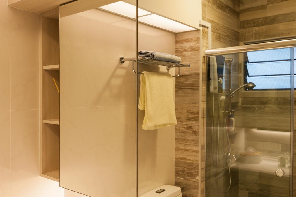 Scandinavian, HDB, Bathroom, Jurong West Street 65, Interior Designer, Starry Homestead, Closet, Cupboard, Furniture