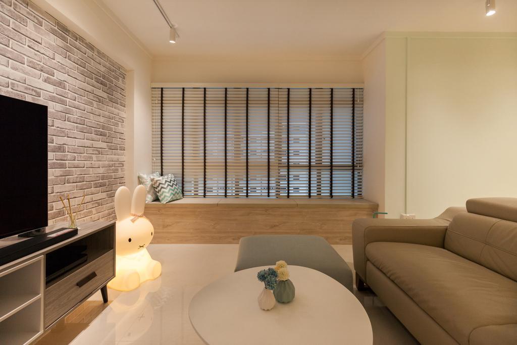 Scandinavian, HDB, Living Room, Jurong West Street 65, Interior Designer, Starry Homestead, Couch, Furniture, Indoors, Room