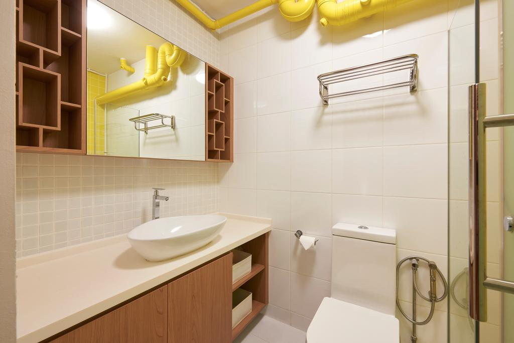 Scandinavian, HDB, Bathroom, Cambridge Road, Interior Designer, Jubilee Interior, Industrial, Indoors, Interior Design, Room