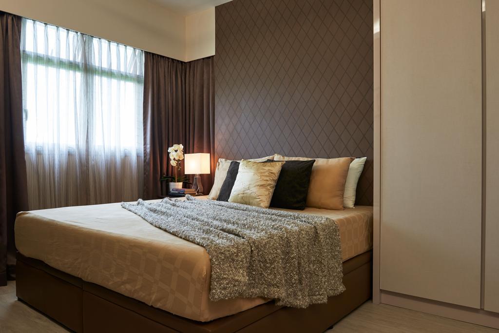 Scandinavian, HDB, Bedroom, Sumang Link, Interior Designer, Jubilee Interior, Bed, Furniture