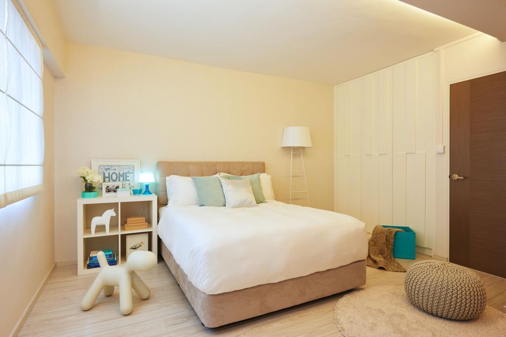 Scandinavian, HDB, Bedroom, Clementi West, Interior Designer, Jubilee Interior, Bed, Furniture, Indoors, Interior Design, Room