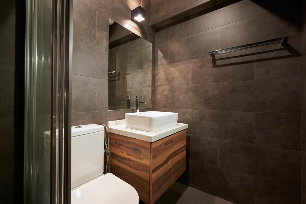 Eclectic, HDB, Bathroom, Woodlands Ring, Interior Designer, Jubilee Interior, Indoors, Interior Design, Room