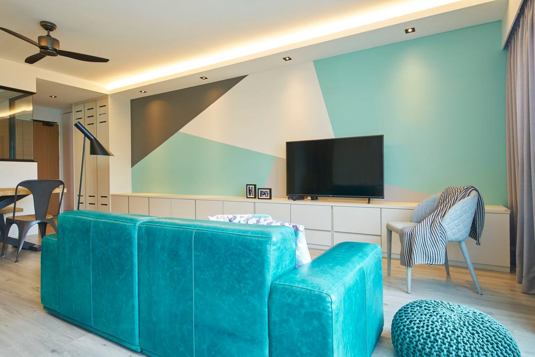 Chai Chee, Jubilee Interior, Scandinavian, Minimalistic, Living Room, HDB, Chair, Furniture, Couch, Electronics, Lcd Screen, Monitor, Screen, Knitting