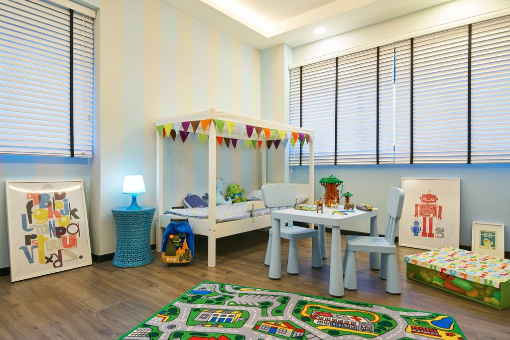 Scandinavian, HDB, Bedroom, Chai Chee, Interior Designer, Jubilee Interior, Minimalistic, Dining Table, Furniture, Table, Kindergarten, Dining Room, Indoors, Interior Design, Room