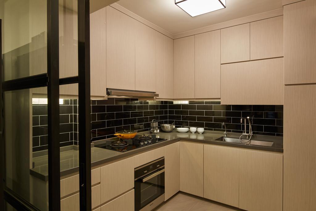 Minimalistic, HDB, Kitchen, Marine Crescent, Interior Designer, Jubilee Interior, Appliance, Electrical Device, Oven