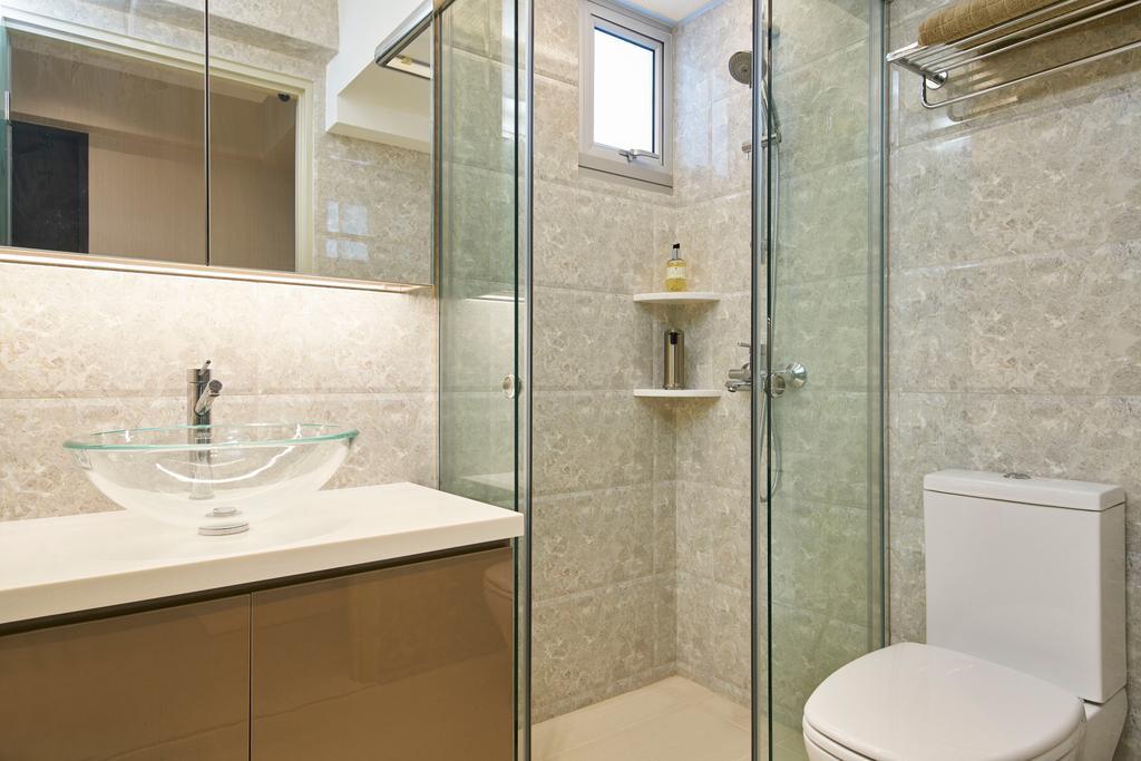 Modern, HDB, Bathroom, Jalan Tenteram, Interior Designer, Jubilee Interior, Toilet, Indoors, Interior Design, Room, Sink