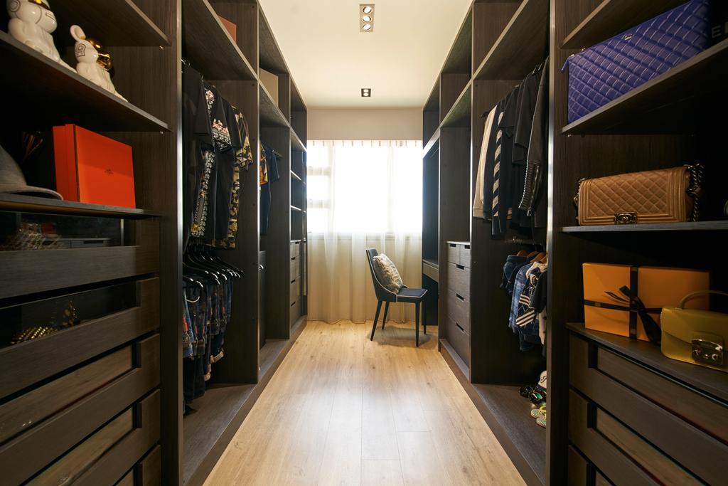 Modern, HDB, Bedroom, Jalan Tenteram, Interior Designer, Jubilee Interior, Flooring, Shelf