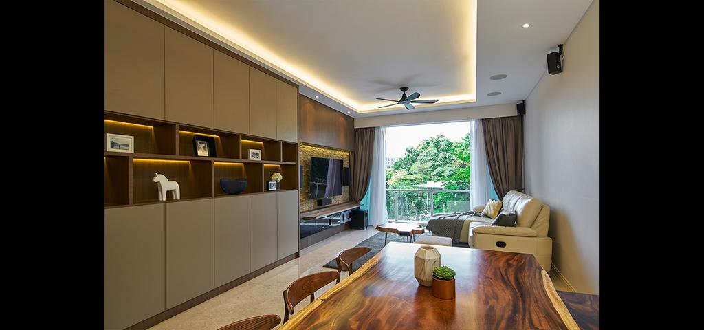 Modern, Condo, Living Room, Cairnhill Crest, Interior Designer, Jubilee Interior, Window, Indoors, Interior Design, Plywood, Wood, Dining Room, Room