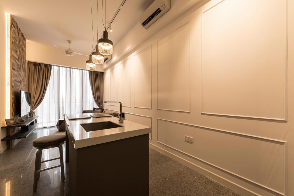 Modern, Condo, Living Room, The Hillier, Interior Designer, Posh Living Interior Design, Contemporary, Light Fixture, Indoors, Interior Design, Room