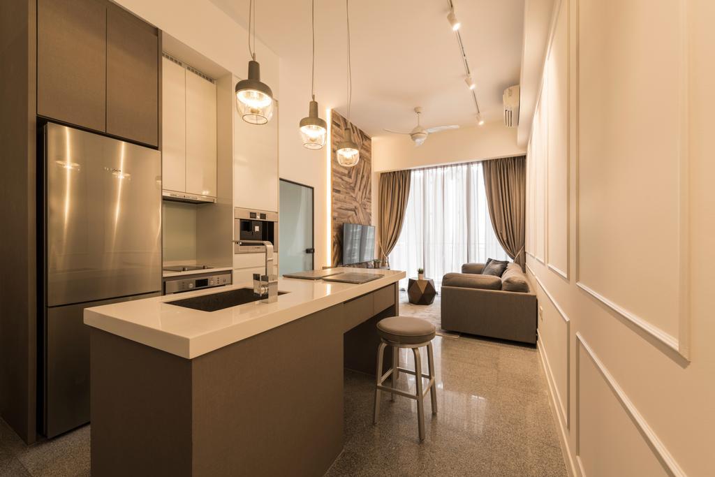 Modern, Condo, Living Room, The Hillier, Interior Designer, Posh Living Interior Design, Contemporary, Sink, Bar Stool, Furniture, Indoors, Interior Design, Room