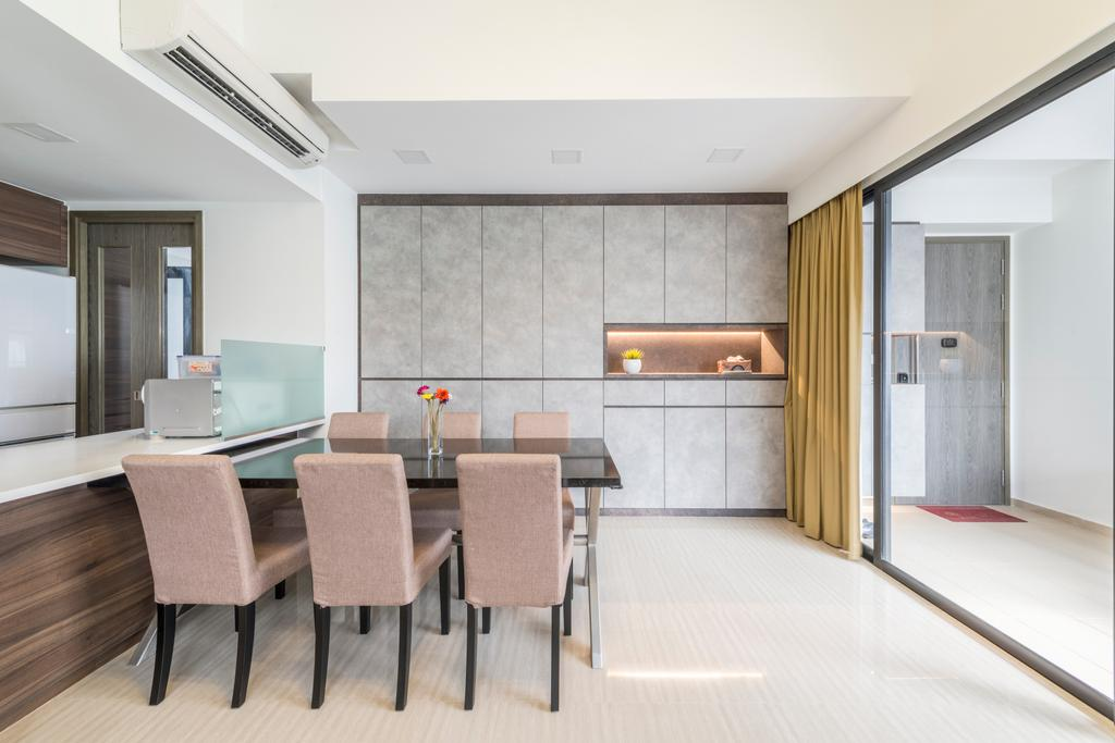 Modern, Condo, Dining Room, Lush Acres, Interior Designer, Posh Living Interior Design, Contemporary, Dining Table, Furniture, Table, Chair, Conference Room, Indoors, Meeting Room, Room