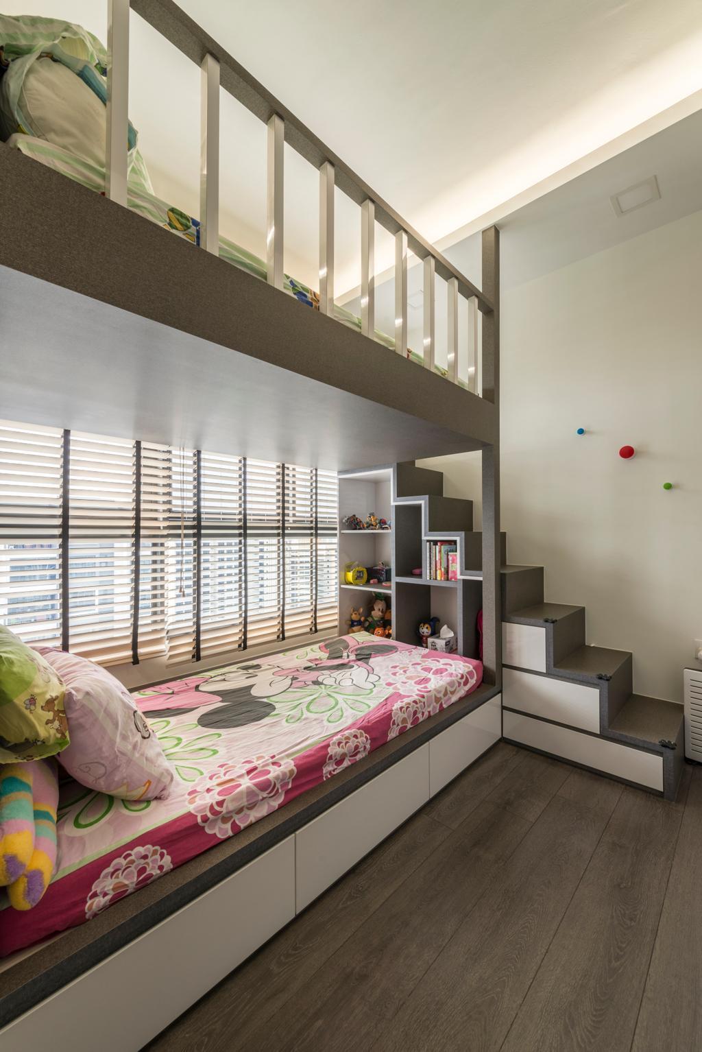 Modern, Condo, Bedroom, Lush Acres, Interior Designer, Posh Living Interior Design, Contemporary, Bed, Furniture, Shelf