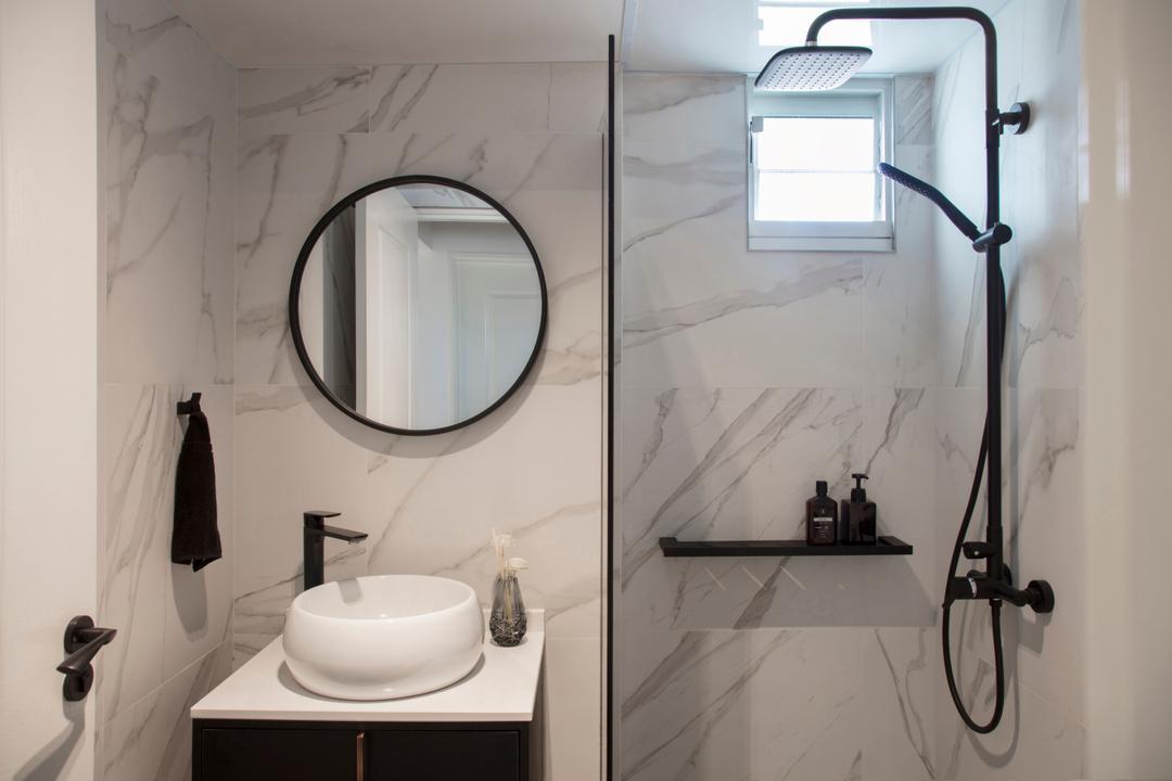 McNair Road, KDOT, Modern, Bathroom, HDB, Indoors, Interior Design, Room, Porthole, Window