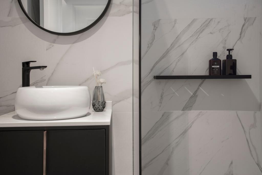 Modern, HDB, Bathroom, McNair Road, Interior Designer, KDOT, Indoors, Interior Design, Room