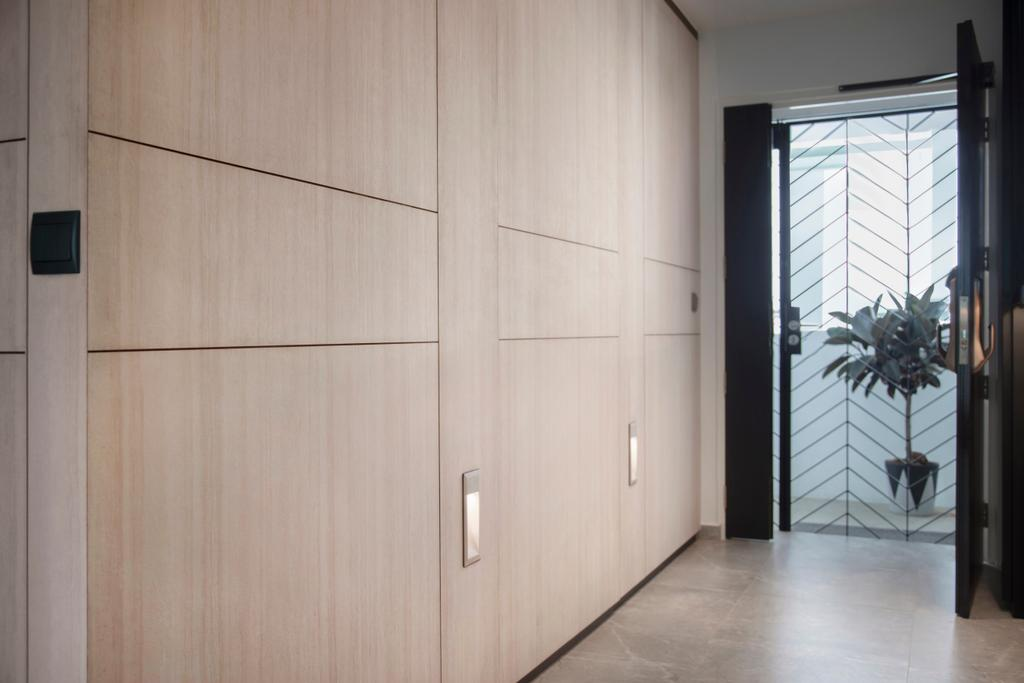 Modern, HDB, Living Room, McNair Road, Interior Designer, KDOT, Door, Sliding Door