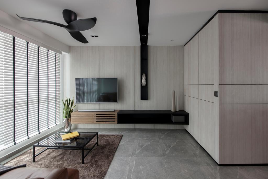 Modern, HDB, Living Room, McNair Road, Interior Designer, KDOT, Logo, Trademark, Bench