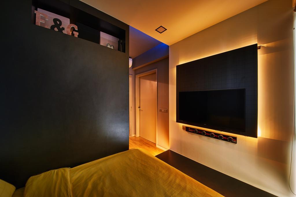 Modern, Condo, Bedroom, Riversail, Interior Designer, The Local INN.terior 新家室, Electronics, Entertainment Center