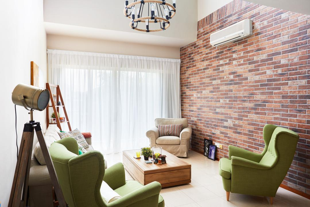 Seletar Spring, The Local INN.terior 新家室, Minimalistic, Living Room, Condo, Couch, Furniture, Indoors, Interior Design, Room, Chair, Armchair, Dining Room