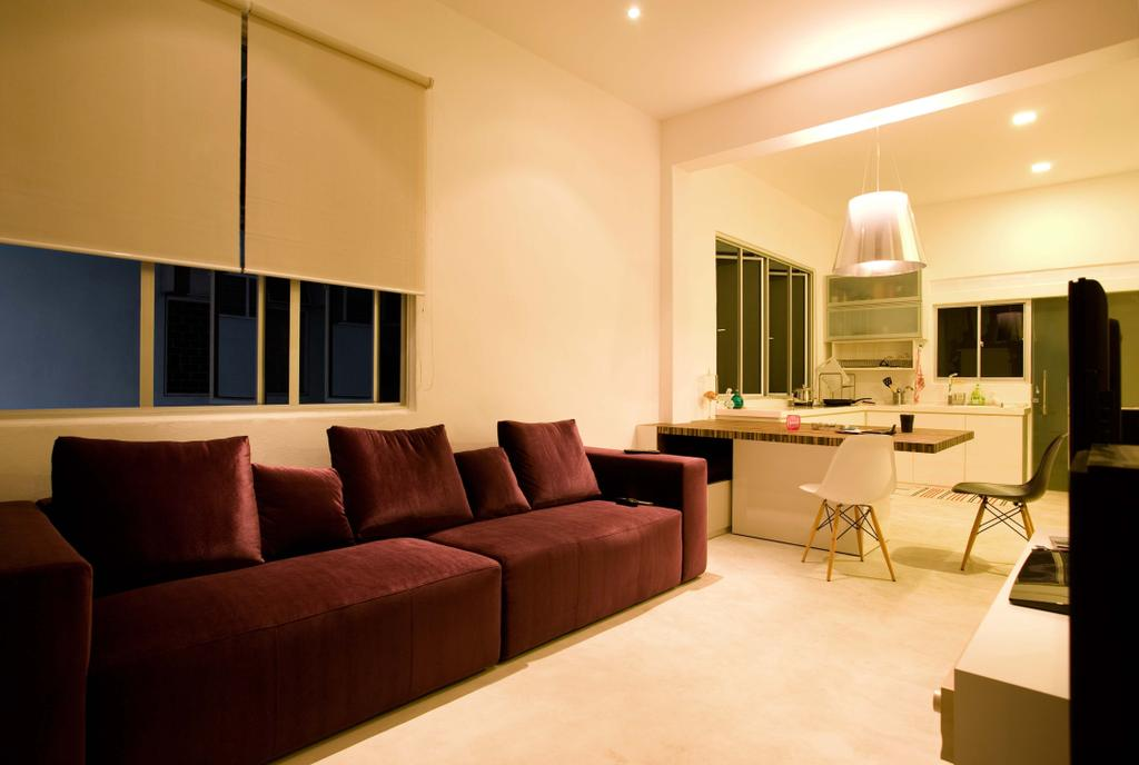 Modern, HDB, Living Room, Balestier, Interior Designer, Free Space Intent, Couch, Furniture, Indoors, Room