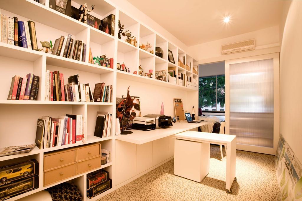 Modern, HDB, Study, Balestier, Interior Designer, Free Space Intent, Bookcase, Furniture, Flooring