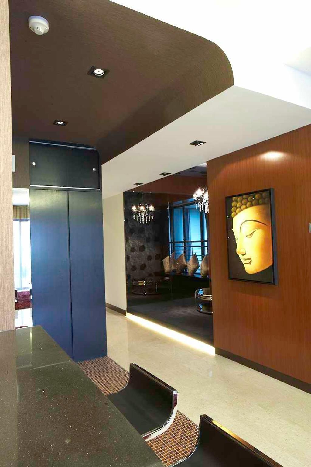 Contemporary, Condo, Dining Room, Watermark, Interior Designer, Free Space Intent, HDB, Building, Housing, Indoors, Loft