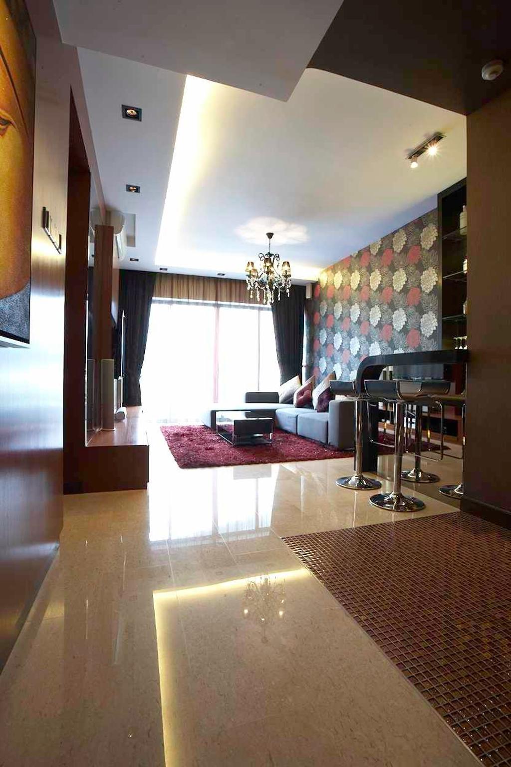 Contemporary, Condo, Living Room, Watermark, Interior Designer, Free Space Intent, HDB, Building, Housing, Indoors, Loft