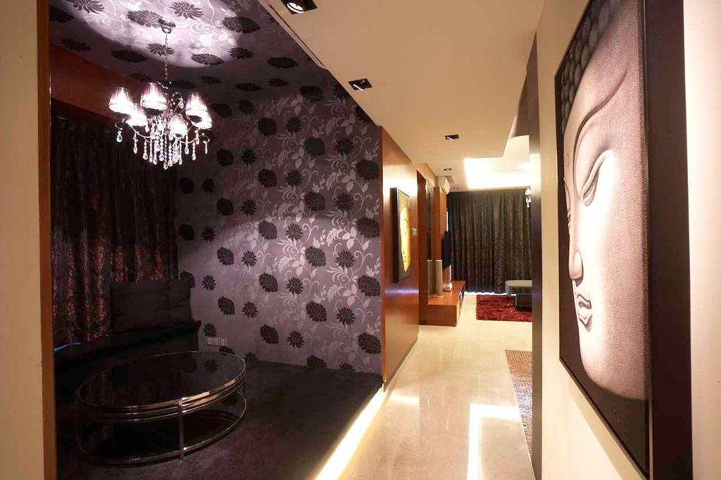 Contemporary, Condo, Living Room, Watermark, Interior Designer, Free Space Intent, Chair, Furniture, Corridor