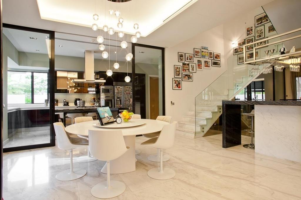 Minimalistic, Landed, Lumina Kiara, Mont Kiara, Interior Designer, Klaasmen Sdn. Bhd., Contemporary, Eclectic, Dining Table, Furniture, Table, Bathroom, Indoors, Interior Design, Room