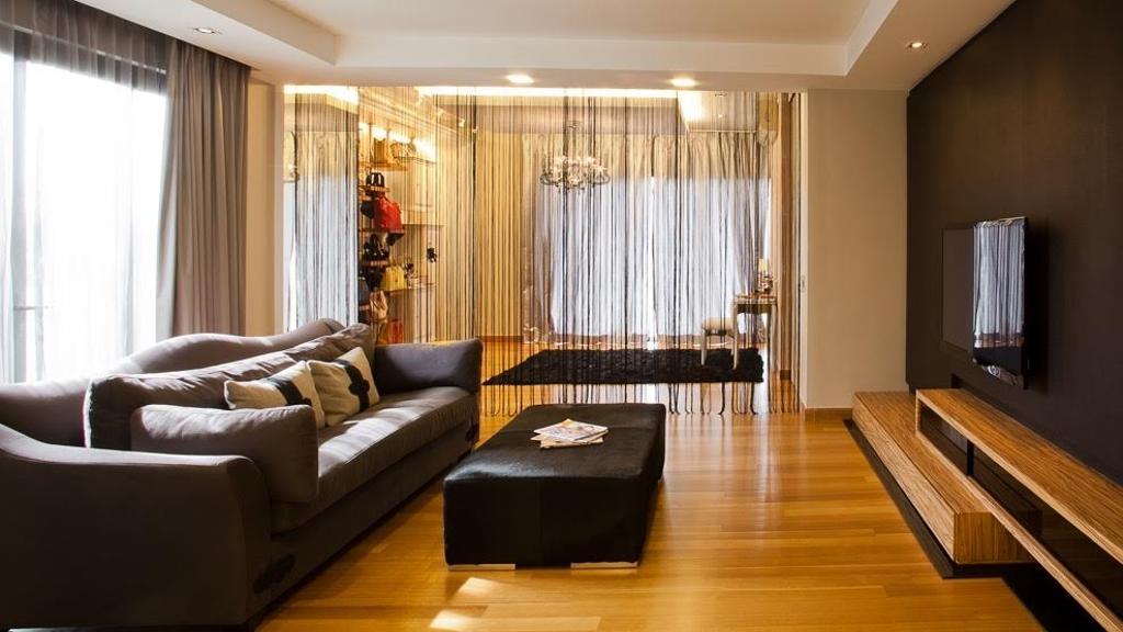 Minimalistic, Landed, Lumina Kiara, Mont Kiara, Interior Designer, Klaasmen Sdn. Bhd., Contemporary, Eclectic, Couch, Furniture, Indoors, Room, Hardwood, Wood, Flooring