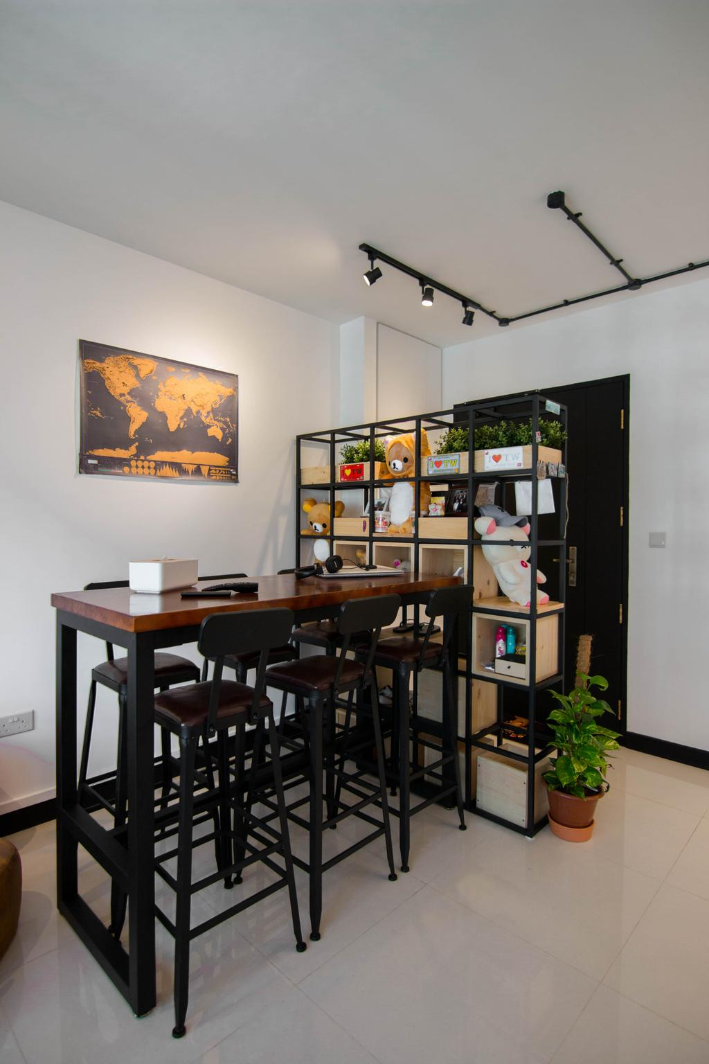 Eclectic, HDB, Dining Room, Clementi Avenue 6, Interior Designer, 9 Creation, Dining Table, Furniture, Table, Flora, Jar, Plant, Potted Plant, Pottery, Vase, Couch, Indoors, Interior Design, Room, Chair, Art, Painting