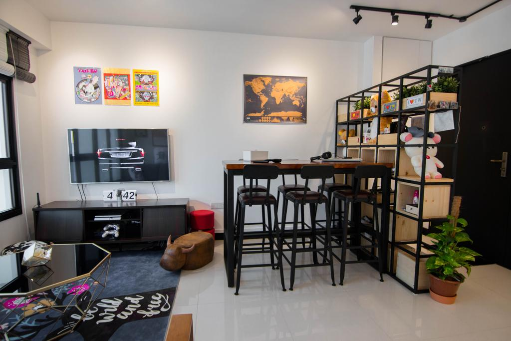 Eclectic, HDB, Living Room, Clementi Avenue 6, Interior Designer, 9 Creation, Dining Table, Furniture, Table, Flora, Jar, Plant, Potted Plant, Pottery, Vase, Shelf, Dining Room, Indoors, Interior Design, Room, Art, Modern Art, Building, Housing