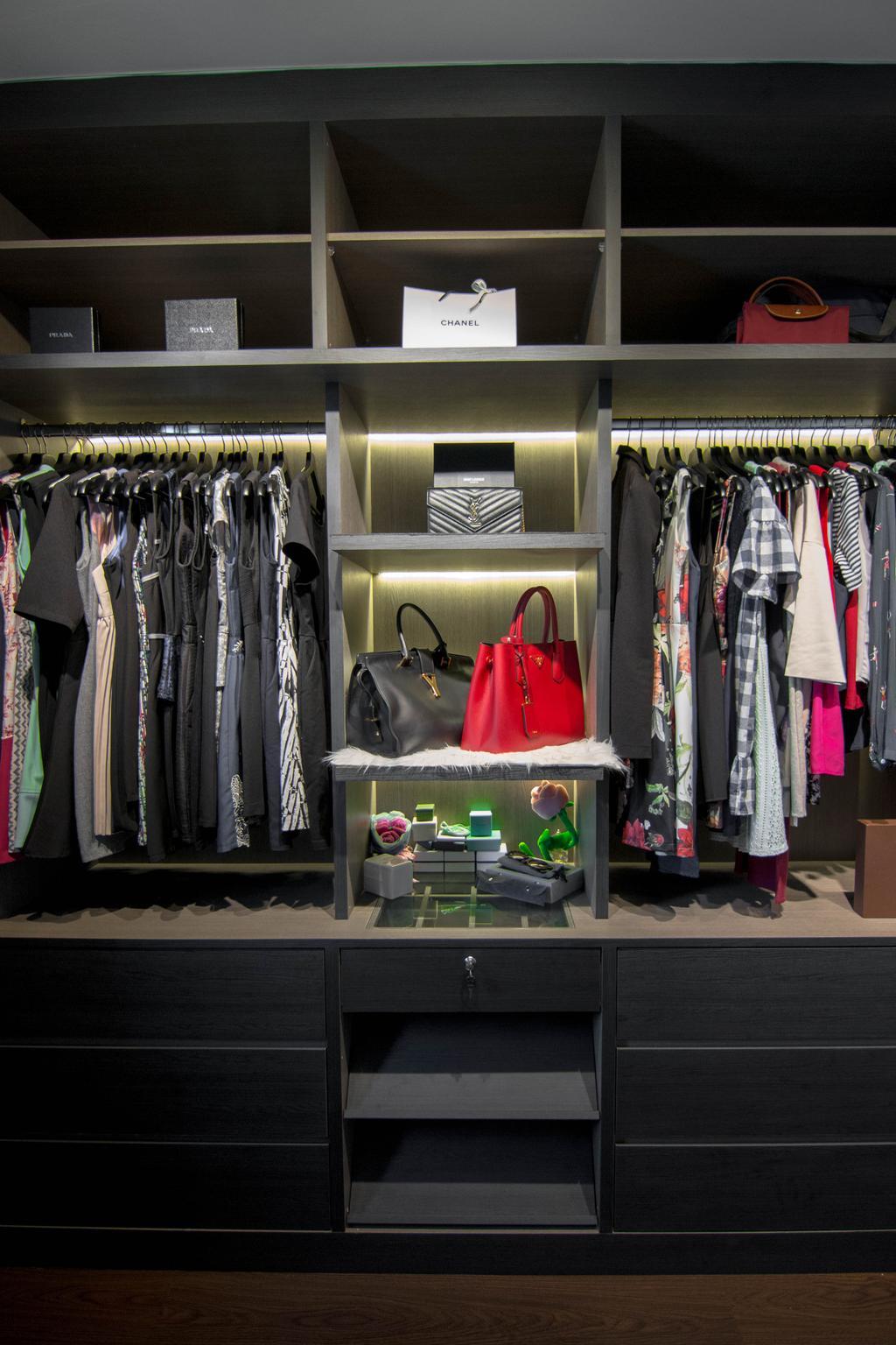 Eclectic, HDB, Bedroom, Clementi Avenue 6, Interior Designer, 9 Creation, Apparel, Clothing, Shop