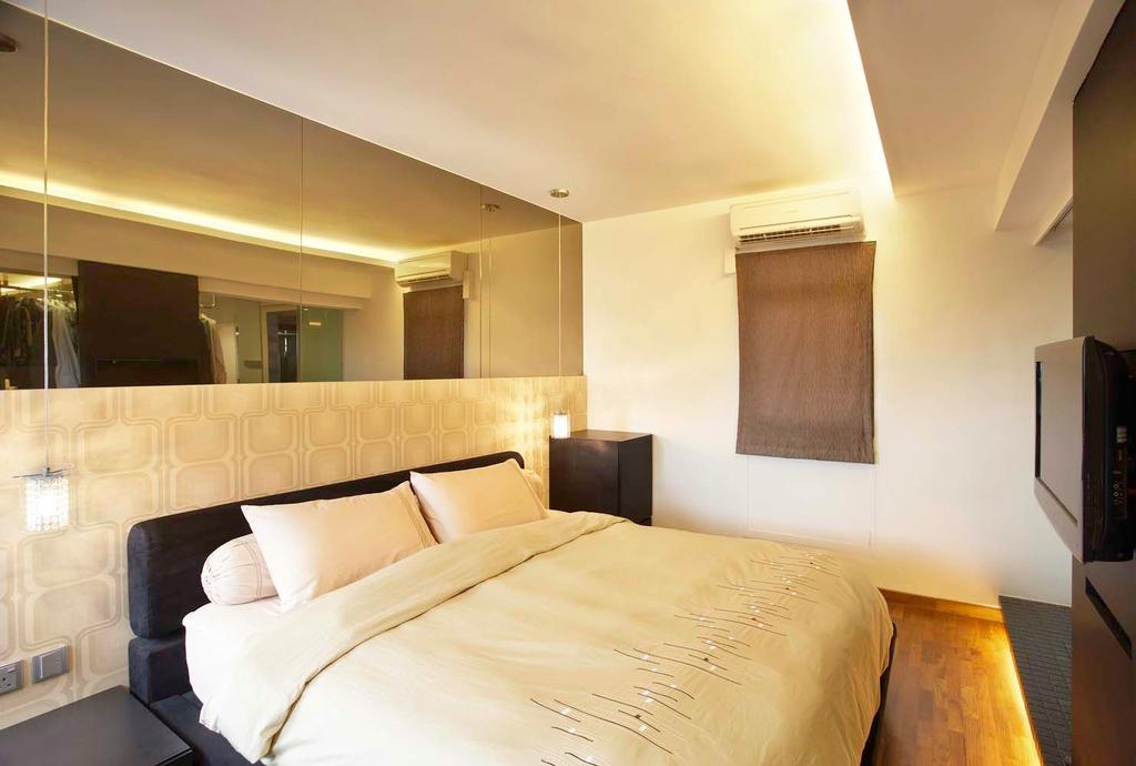 Traditional, HDB, Bedroom, Boon Keng, Interior Designer, Free Space Intent, Bed, Furniture, Indoors, Room