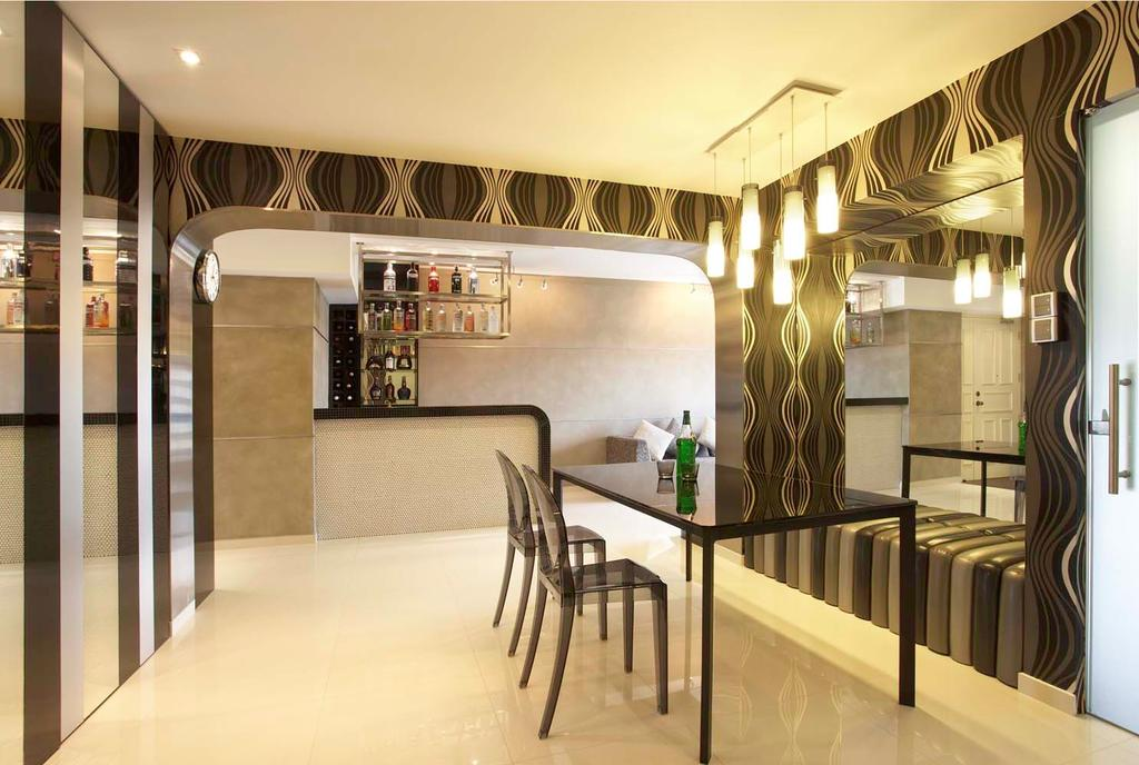 Traditional, HDB, Dining Room, Boon Keng, Interior Designer, Free Space Intent, Dining Table, Furniture, Table, Corridor, Indoors, Interior Design, Room