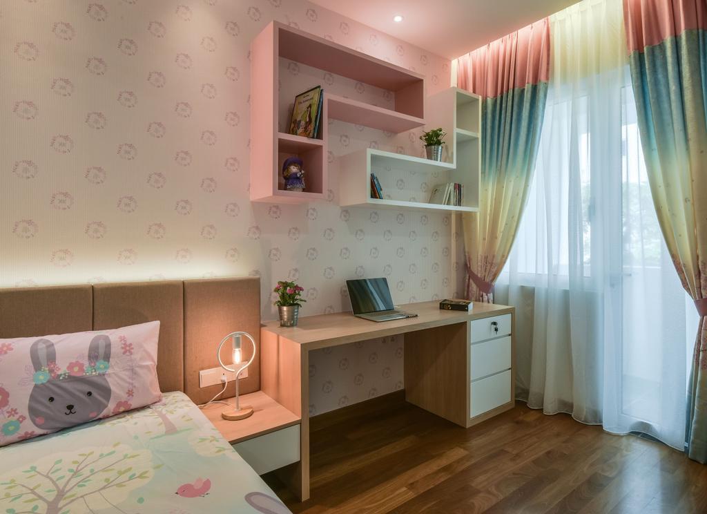 Modern, Landed, Bedroom, Scenaria Super Link, Interior Designer, IQI Concept Interior Design & Renovation, Minimalistic, Flooring, Indoors, Interior Design, Room
