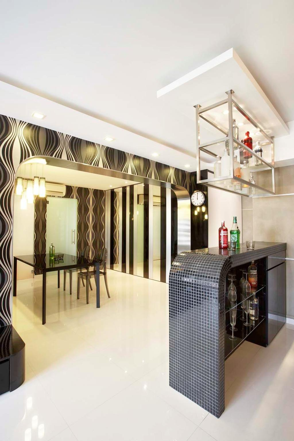 Traditional, HDB, Living Room, Boon Keng, Interior Designer, Free Space Intent, Dining Table, Furniture, Table, Building, Housing, Indoors, Loft
