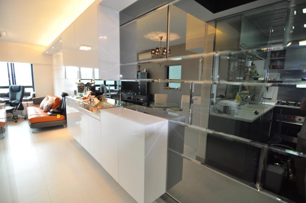 私家樓, 客廳, 清水灣半島, 室內設計師, CREATIVE Interior Design Engineering, Couch, Furniture, Sink
